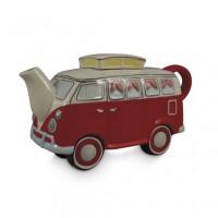 Red Combi Van Teapot