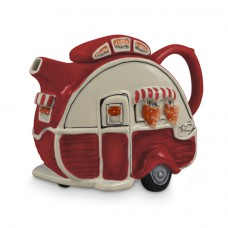 Retro Red Caravan Teapot