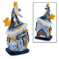 Blue Tealight Fairy House